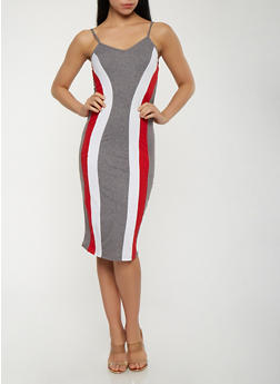 Color Block Tank Dress - 3410072242450