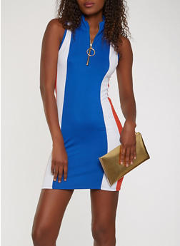 Color Block Tank Dress - 3410072242473