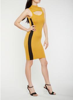 Keyhole Side Stripe Tank Dress - 3410072242486
