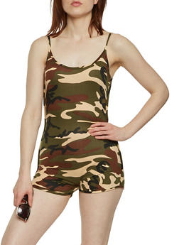 Soft Knit Camo Catsuit - 3410072242487