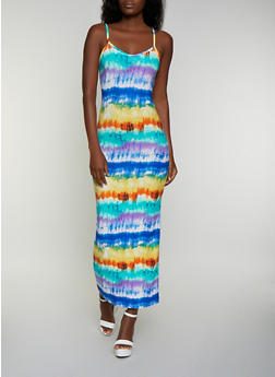 Tie Dye Soft Knit Maxi Dress - 3410072243254