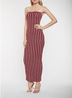 Striped Tube Maxi Dress - 3410072244924