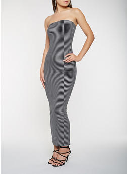 Striped Tube Maxi Dress - 3410072246649