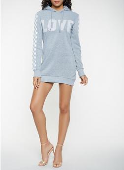 Love Graphic Sweatshirt Dress - 3410072290036