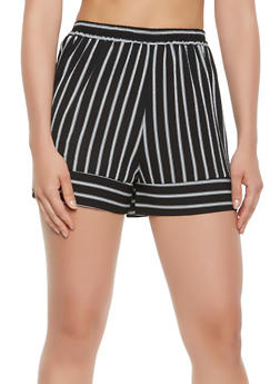 Striped Crepe Knit Shorts - 3411054210841