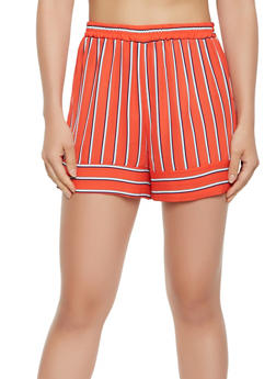 Striped Chiffon Shorts - 3411054210842