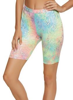 Pastel Foil Tie Dye Bike Shorts - 3411054214102