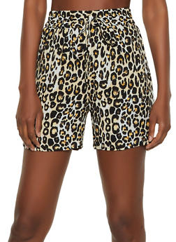 Cheetah Print Shorts - 3411056129489