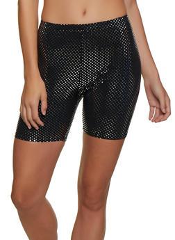 Polka Dot Bike Shorts - 3411058751011