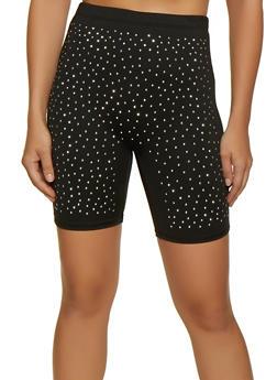 Studded Bike Shorts - 3411058754288