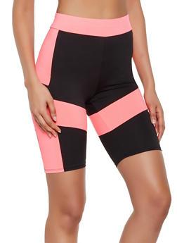 Color Block Active Bike Shorts - 3411058758989
