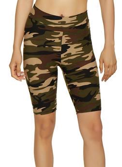 Soft Knit Camo Bike Shorts - 3411061351511