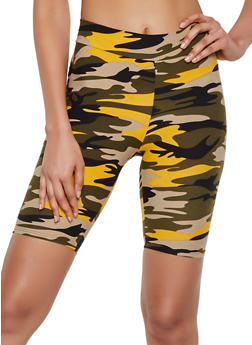 Soft Knit Camo Bike Shorts - 3411061351511