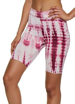 Tie Dye Soft Knit Bike Shorts - 3411061353223