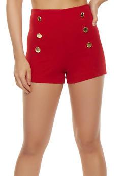 Zip Back Sailor Shorts - RED - 3411062701427