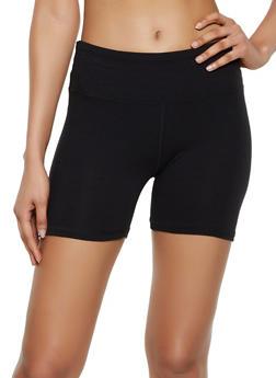 Solid Cotton Bike Shorts - 3411062703266