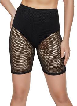 Fishnet Bike Shorts - 3411063400098