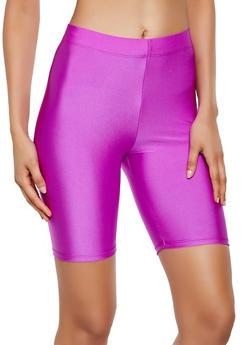 Solid Spandex Bike Shorts - 3411063401081