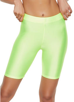 Solid Spandex Bike Shorts - NEON LIME - 3411063401081