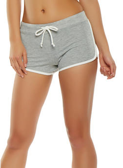 Contrast Trim Shorts - 3411066491320
