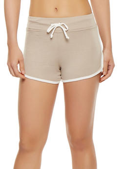 Contrast Trim Shorts - 3411066491320