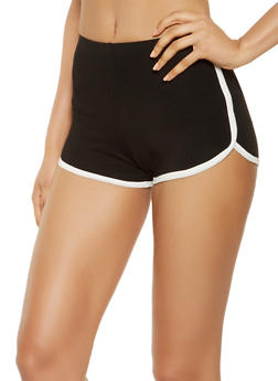 Contrast Trim Dolphin Shorts - 3411066491632