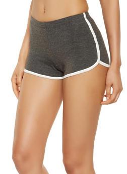 Contrast Trim Dolphin Shorts - 3411066491632