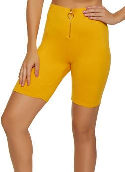 Soft Knit Zip Front Bike Shorts - 3411066493557