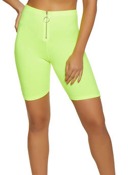 Soft Knit Zip Front Bike Shorts - 3411066493557