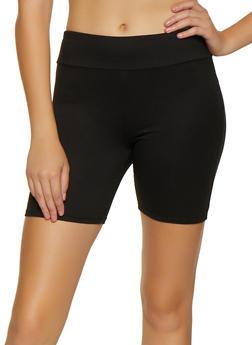 Solid Soft Knit Bike Shorts - 3411066494743