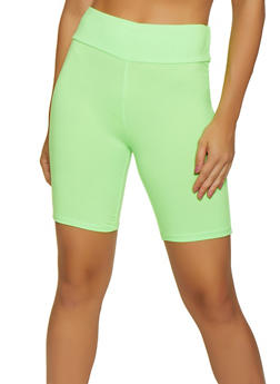 Solid Soft Knit Bike Shorts - NEON LIME - 3411066494743