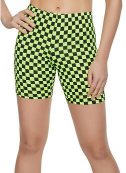 Checkered Bike Shorts - 3411068511673