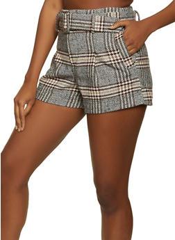 Plaid Wool Shorts - 3411069393008
