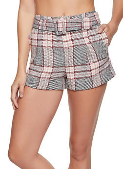 Plaid Wool Shorts - 3411069393008