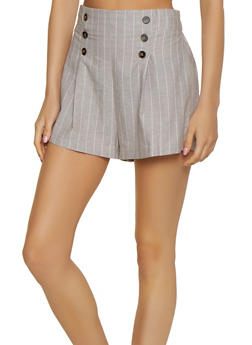 Vertical Stripe Sailor Shorts - 3411069399011
