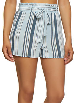 Striped Belted Shorts | 3413054212702 - 3413054212702