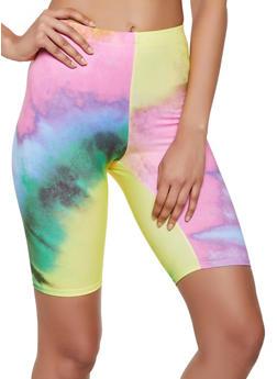 Soft Knit Tie Dye Bike Shorts - 3413058755000