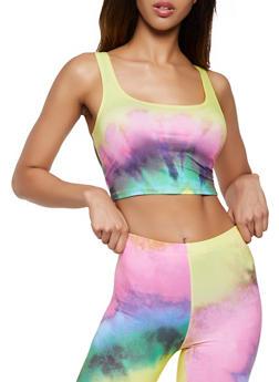 Soft Knit Tie Dye Crop Top - 3413058755001