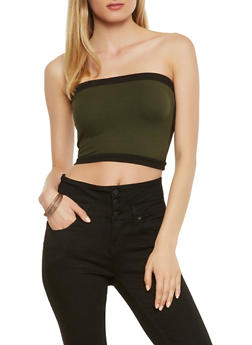 Contrast Trim Tube Top - 3413061353158