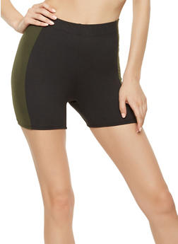 Contrast Trim Bike Shorts - 3413061353168
