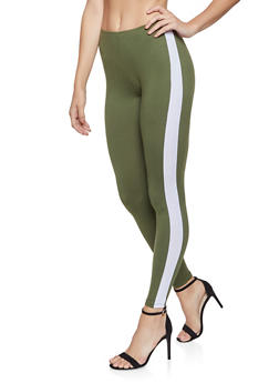 Side Stripe Leggings - 3413061356318
