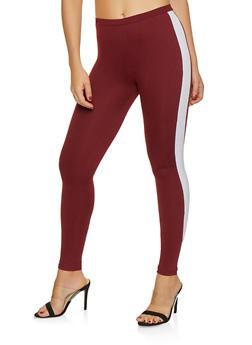 Side Stripe Leggings - 3413061356318