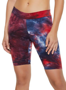 Tie Dye Soft Knit Bike Shorts | 3413061356321 - 3413061356321