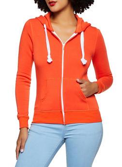 Fleece Lined Zip Up Sweatshirt   3413062703057 - 3413062703057