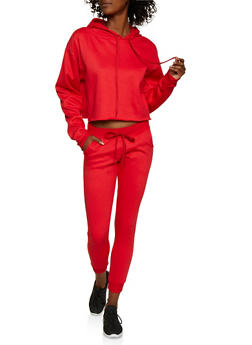 Pullover Sweatshirt and Joggers Set - 3413062709347