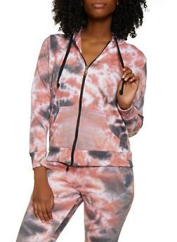 Zip Up Tie Dye Sweatshirt - 3413063407771