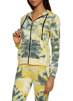 Zip Up Tie Dye Sweatshirt - 3413063407771