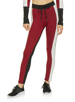 Color Block Leggings - 3413063408123