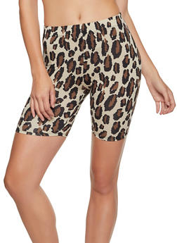 Animal Print Soft Knit Bike Shorts - 3413063408200