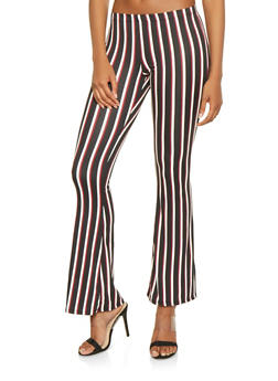 Striped Flared Pants - 3413068510958